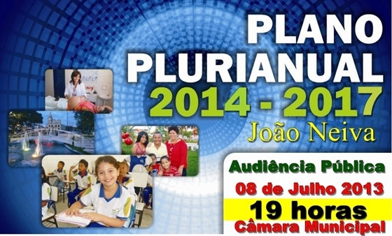 Audiência Pública do Plano Plurianual 2014-2017
